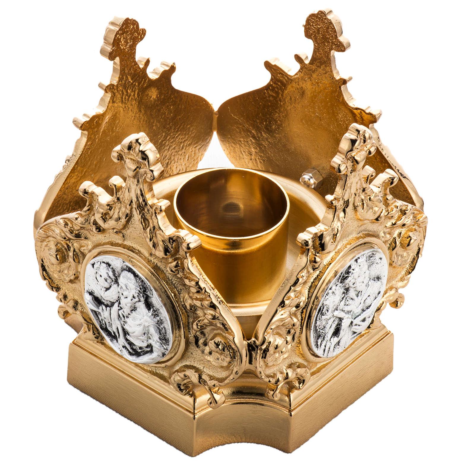 Candeliere ottone fuso quattro evangelisti 4