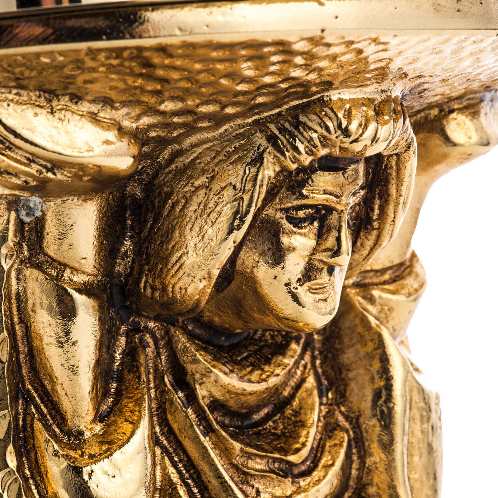 Candlestick made of cast brass 4