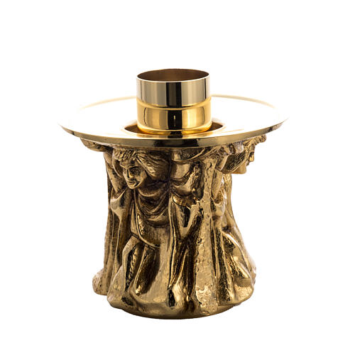 Candlestick made of cast brass 1