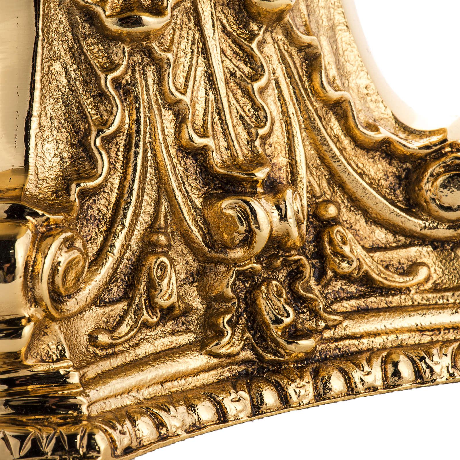 Candeliere ottone dorato fuso 4