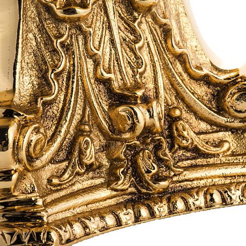 Candeliere ottone dorato fuso 3