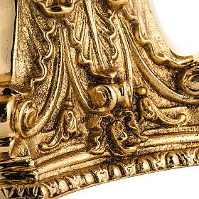 Castiçal latão dourado moldado s3