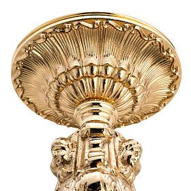 Candelabro barroco latón fundido dorado s3
