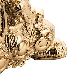 Candeliere barocco ottone fuso dorato s4