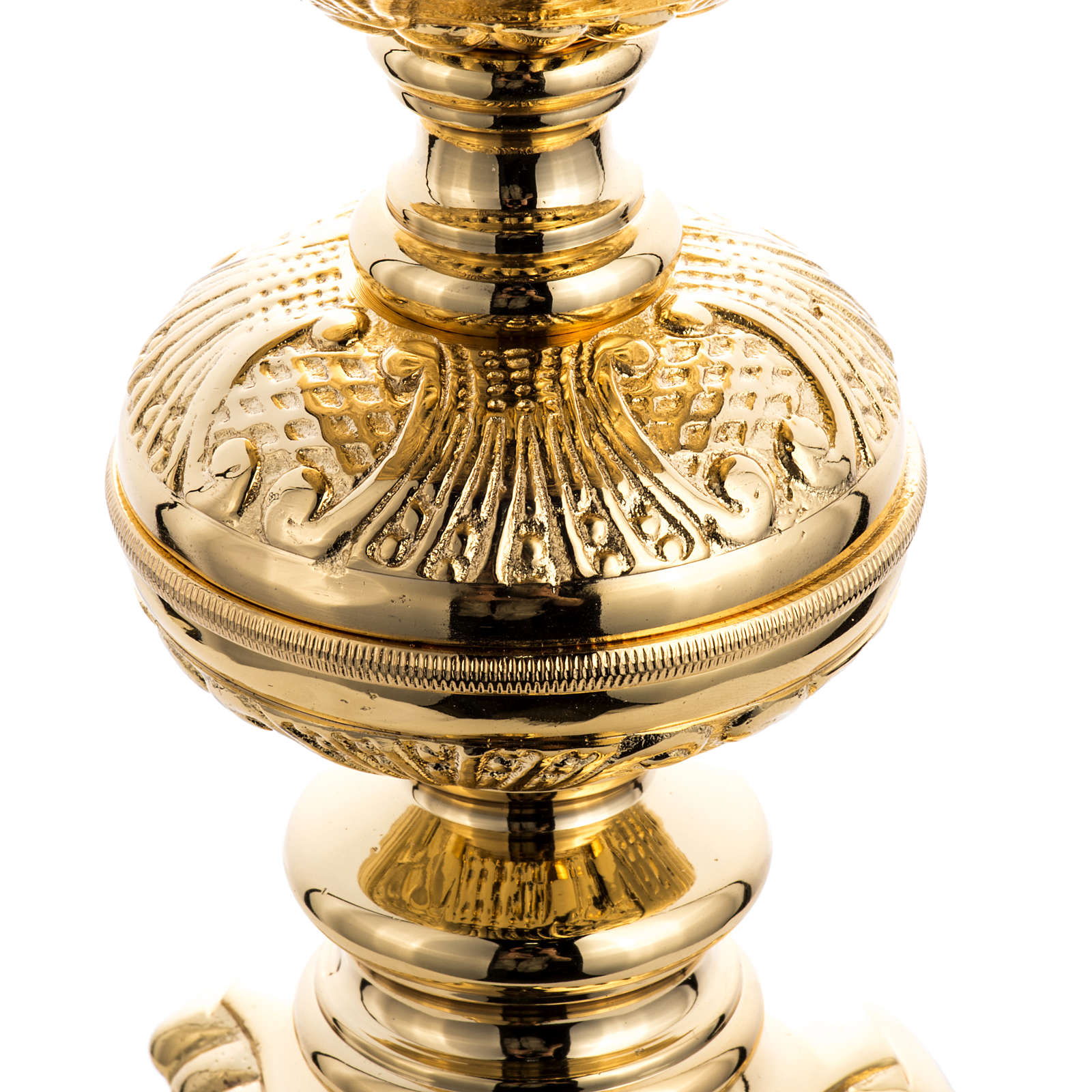 Baroque candlestick in gold-plated cast brass 4