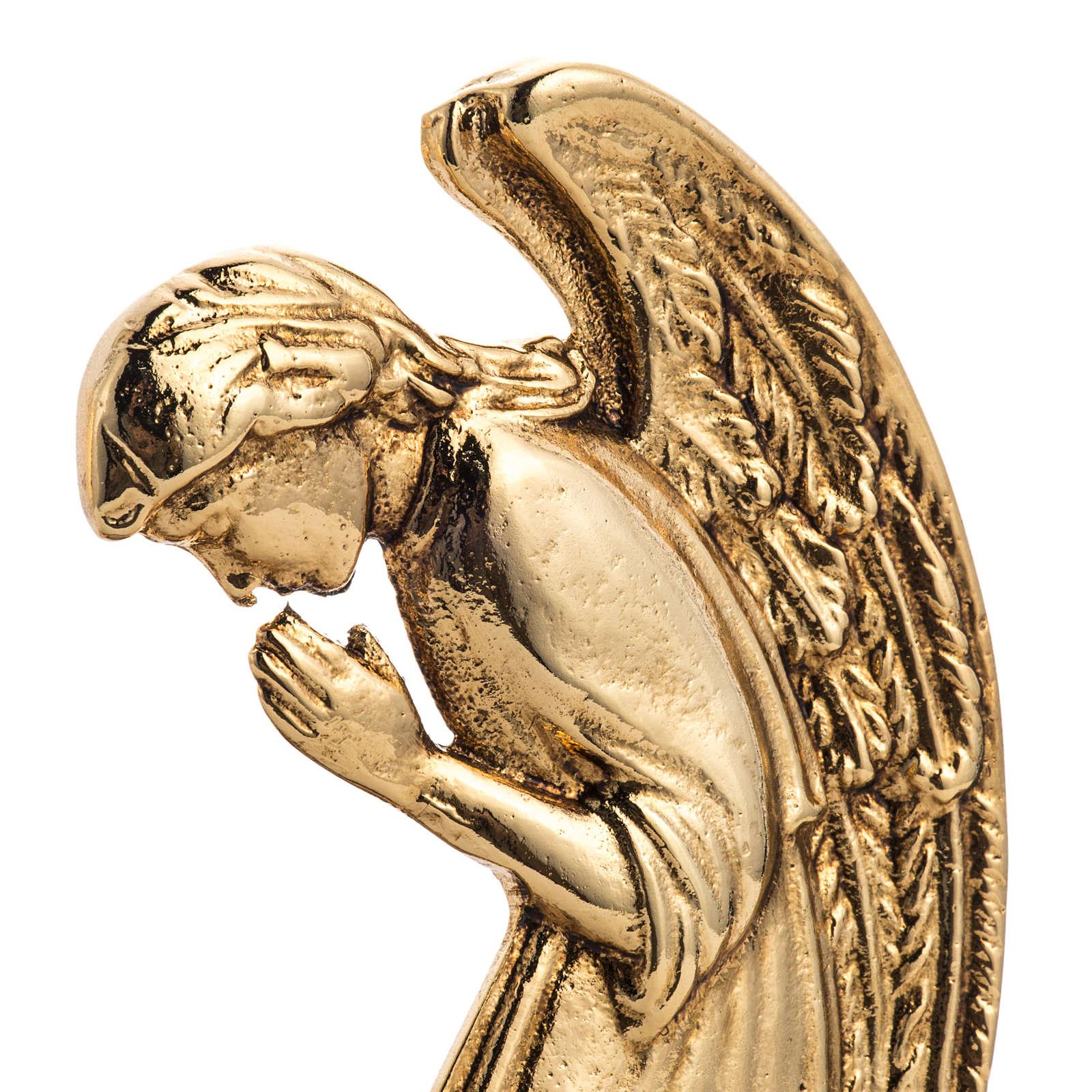 Candeliere ottone fuso angeli in preghiera 4