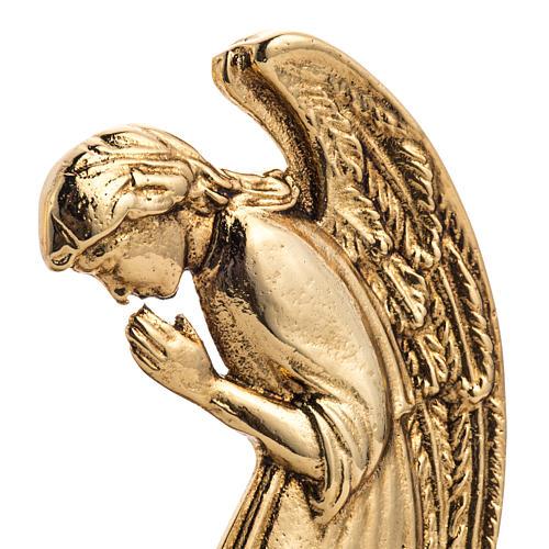 Candeliere ottone fuso angeli in preghiera 5