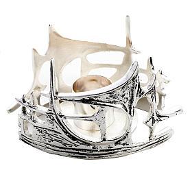 Candeliere stilizzato ottone fuso argentato s2