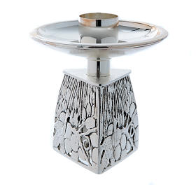 Chandelier d'autel laiton argenté fondu s3