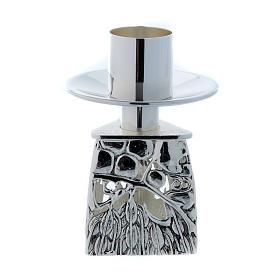 Chandelier d'autel laiton argenté fondu s4