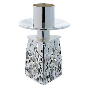 Candeliere ottone argentato fuso s5