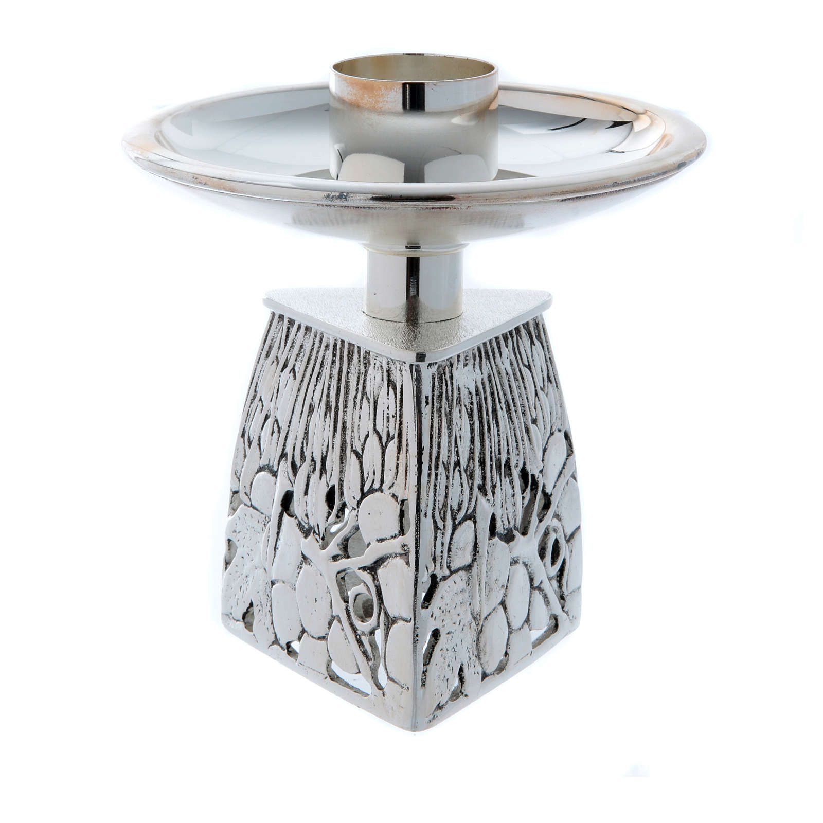 Candlestick, in silver plated cast brass 4