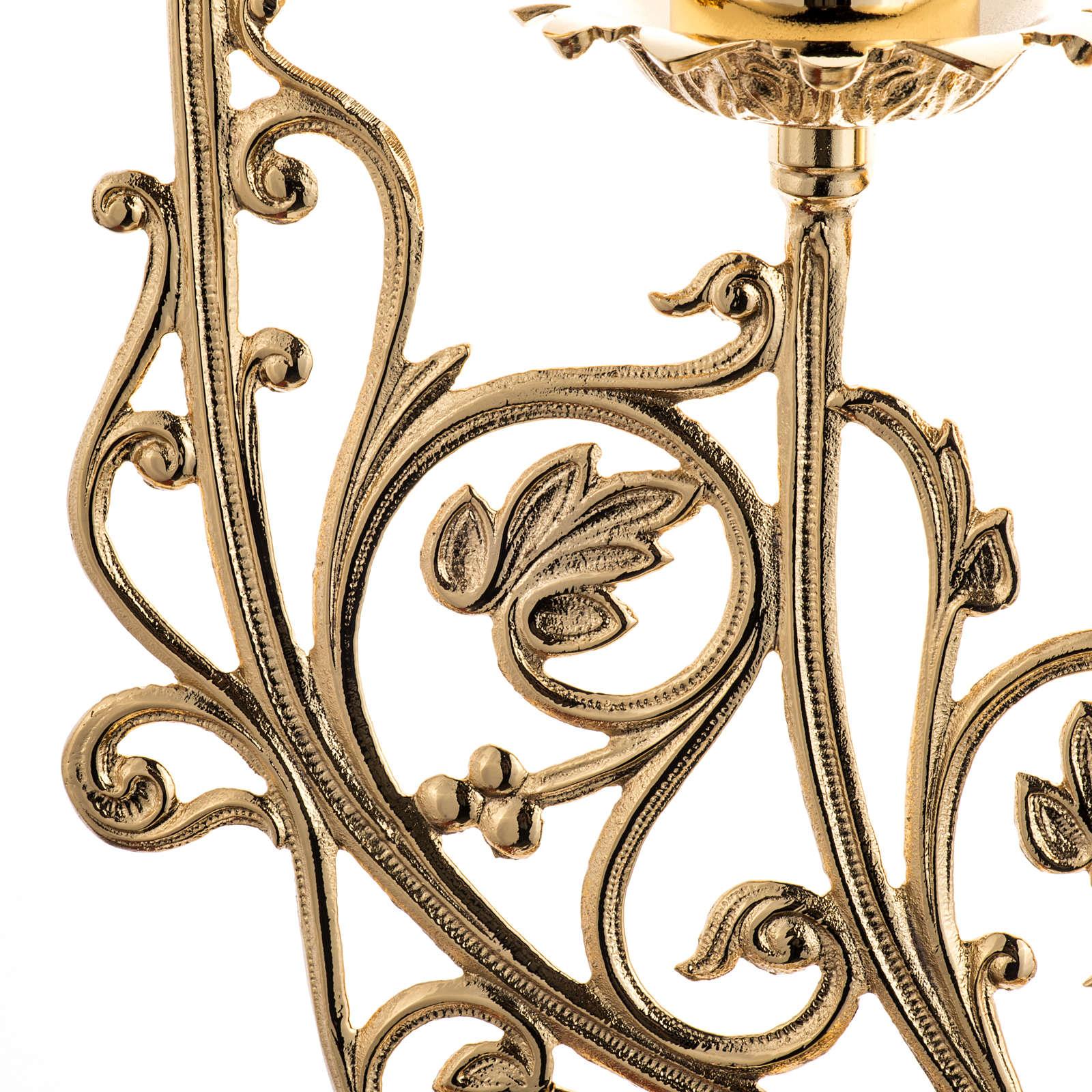 Chandelier baroque en laiton fondu 5 branches 4