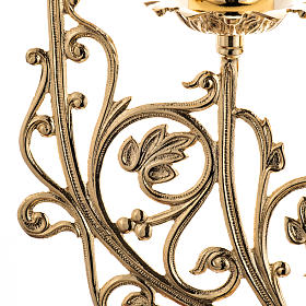 Chandelier baroque en laiton fondu 5 branches s2