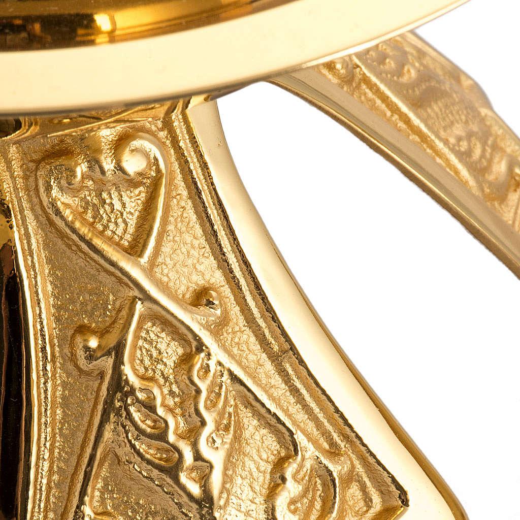 Candeliere singolo bronzo dorato 4
