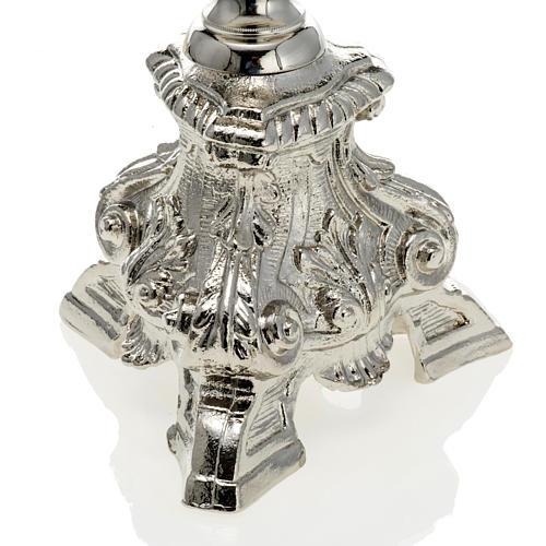 Chandelier baroque sur pied laiton nickelé 70 cm 2