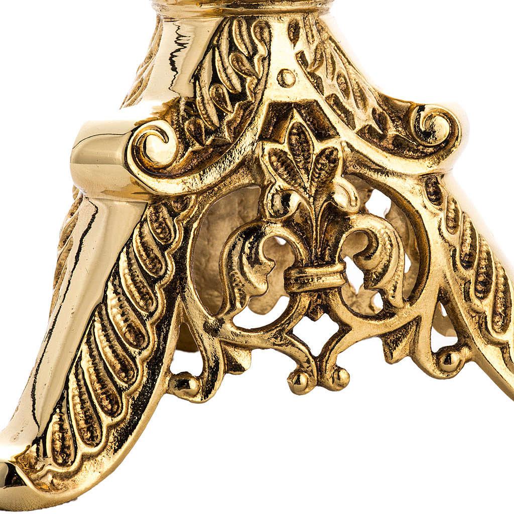 Candeliere gotico ottone fuso 4