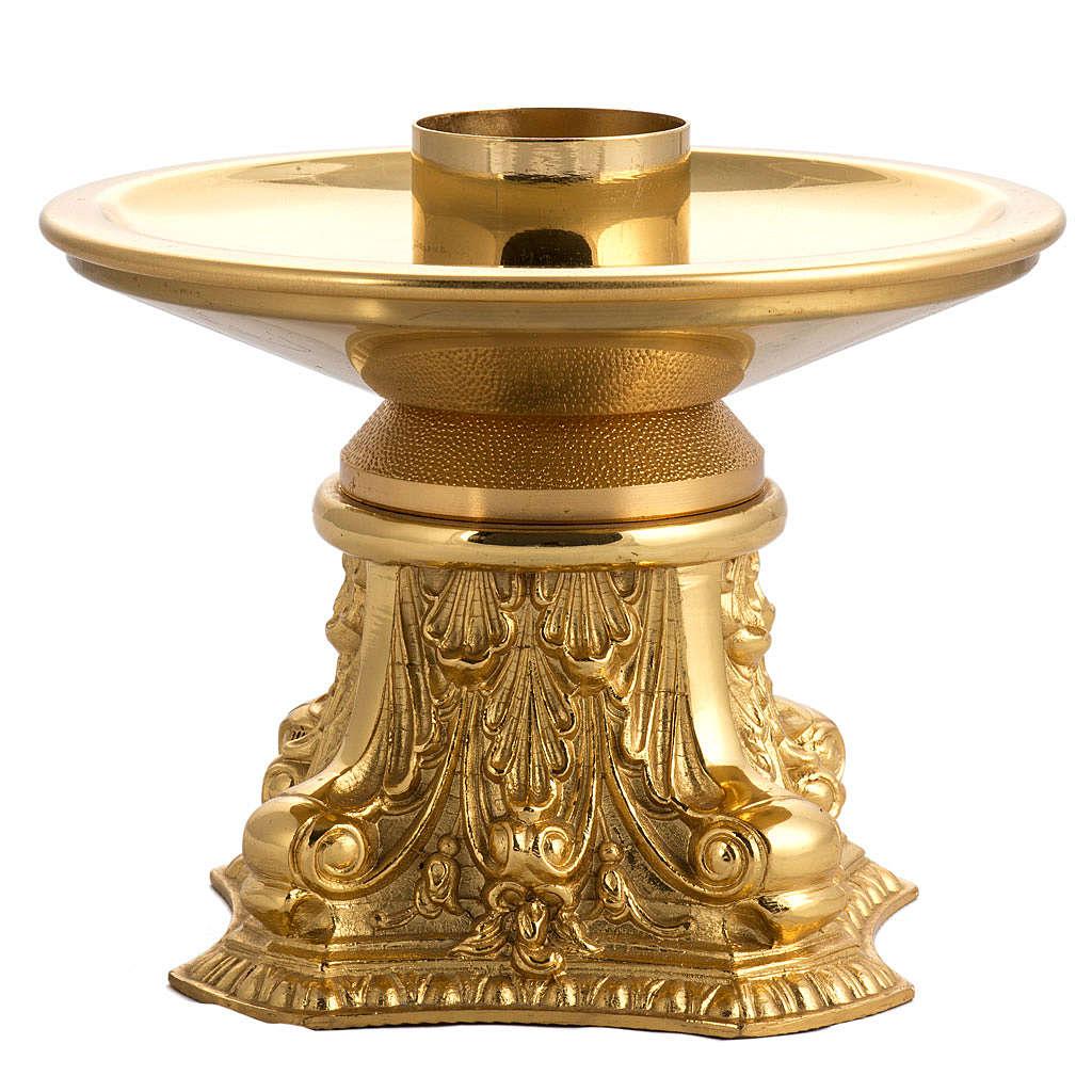 Candeliere bronzo dorato 4