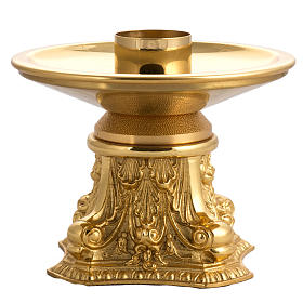 Candeliere bronzo dorato s4