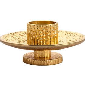 Altar candlestick in golden brass s3
