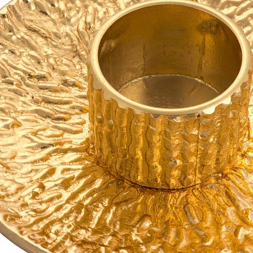 Candeliere da mensa ottone dorato 2