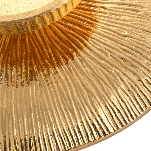 Candeliere da mensa ottone dorato 4