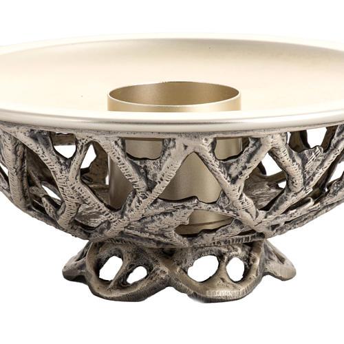 Altar candlestick in silver brass 2