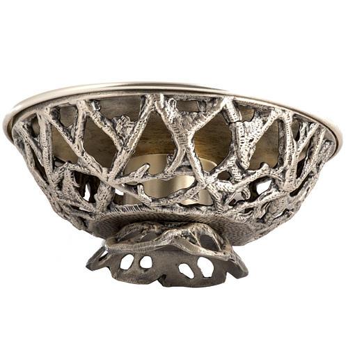 Altar candlestick in silver brass 4