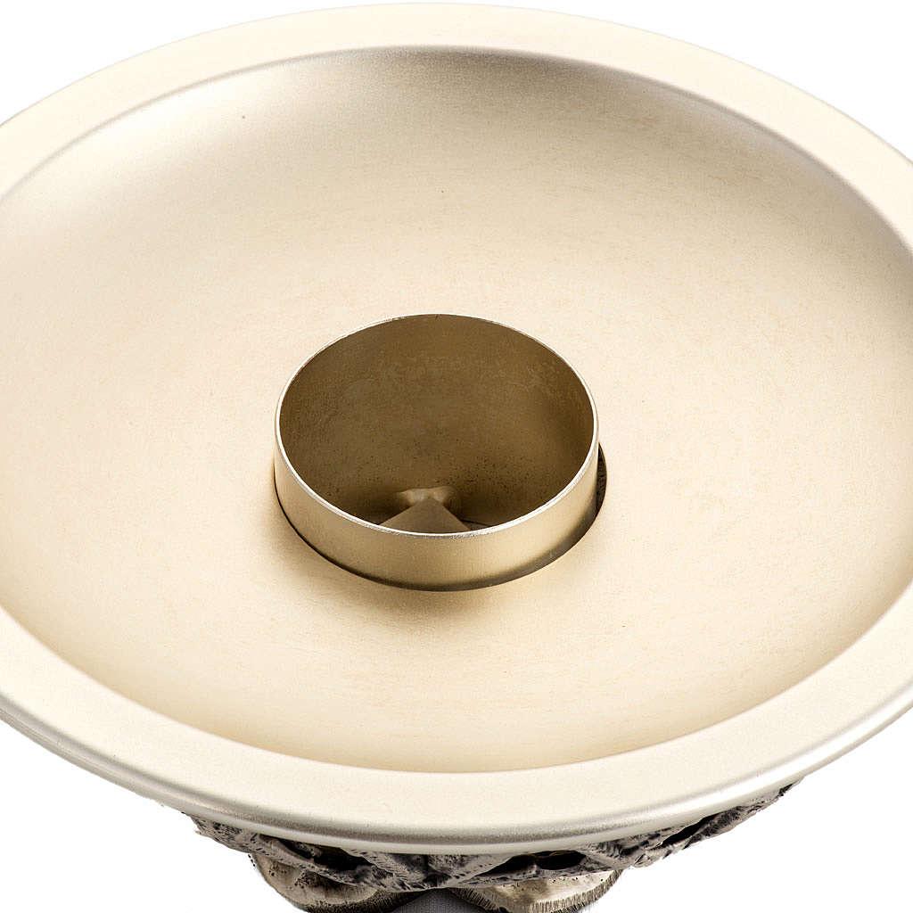 Candeliere da mensa ottone argentato 4