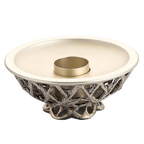 Altar candlestick in silver brass s1