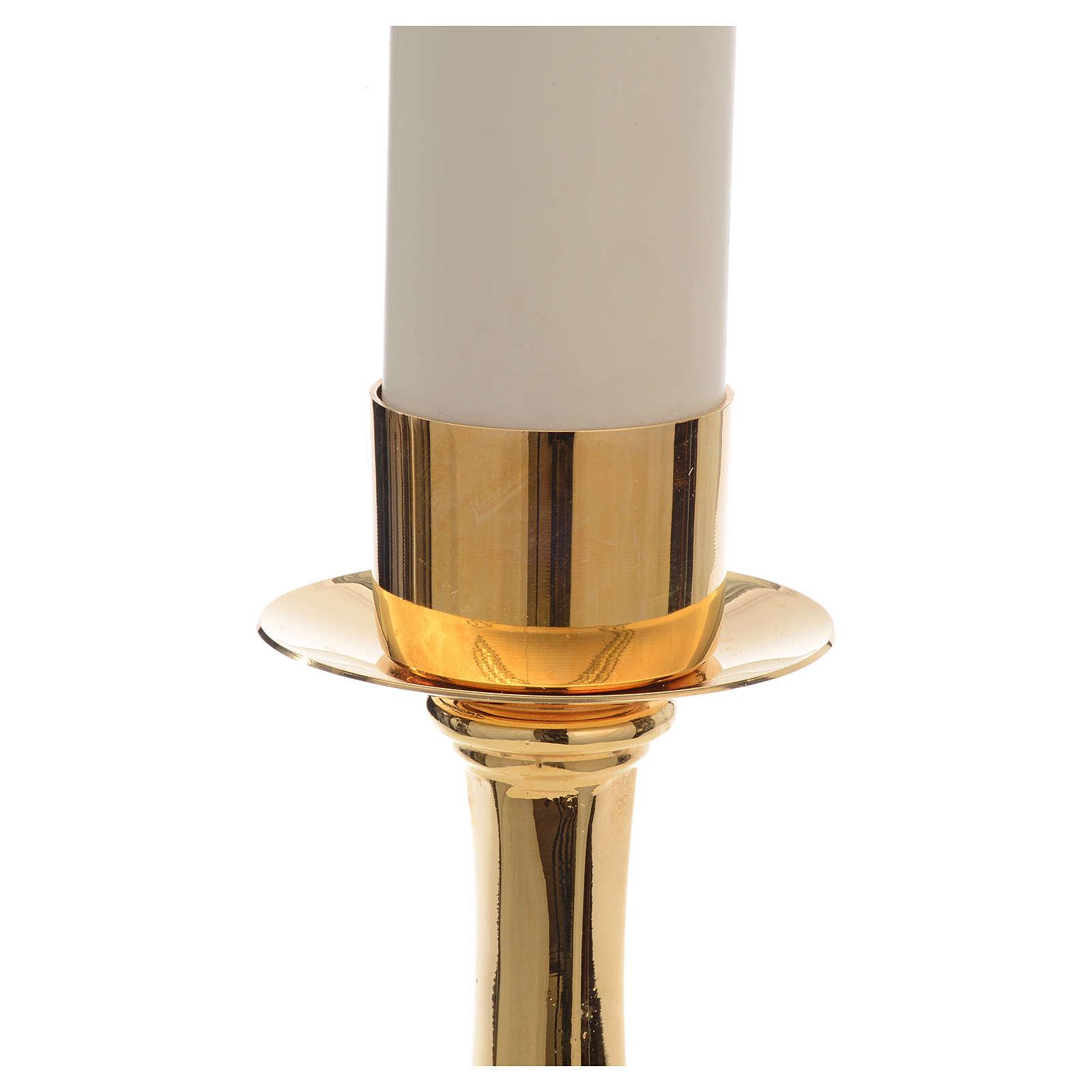 Candelabro con vela falsa 42 cm alto 4