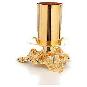 Candeliere altare bossolo 8 cm s2