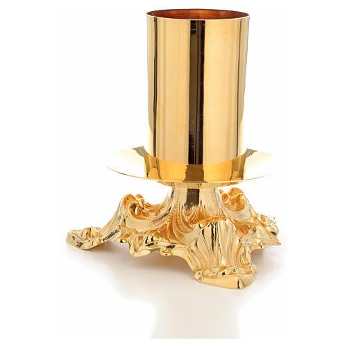 Candeliere altare bossolo 8 cm 2