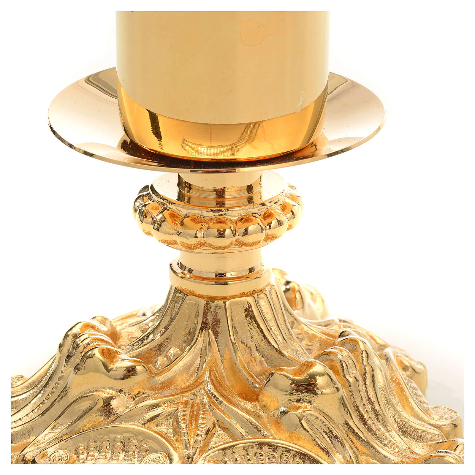 Candeliere con finta candela h.27 4