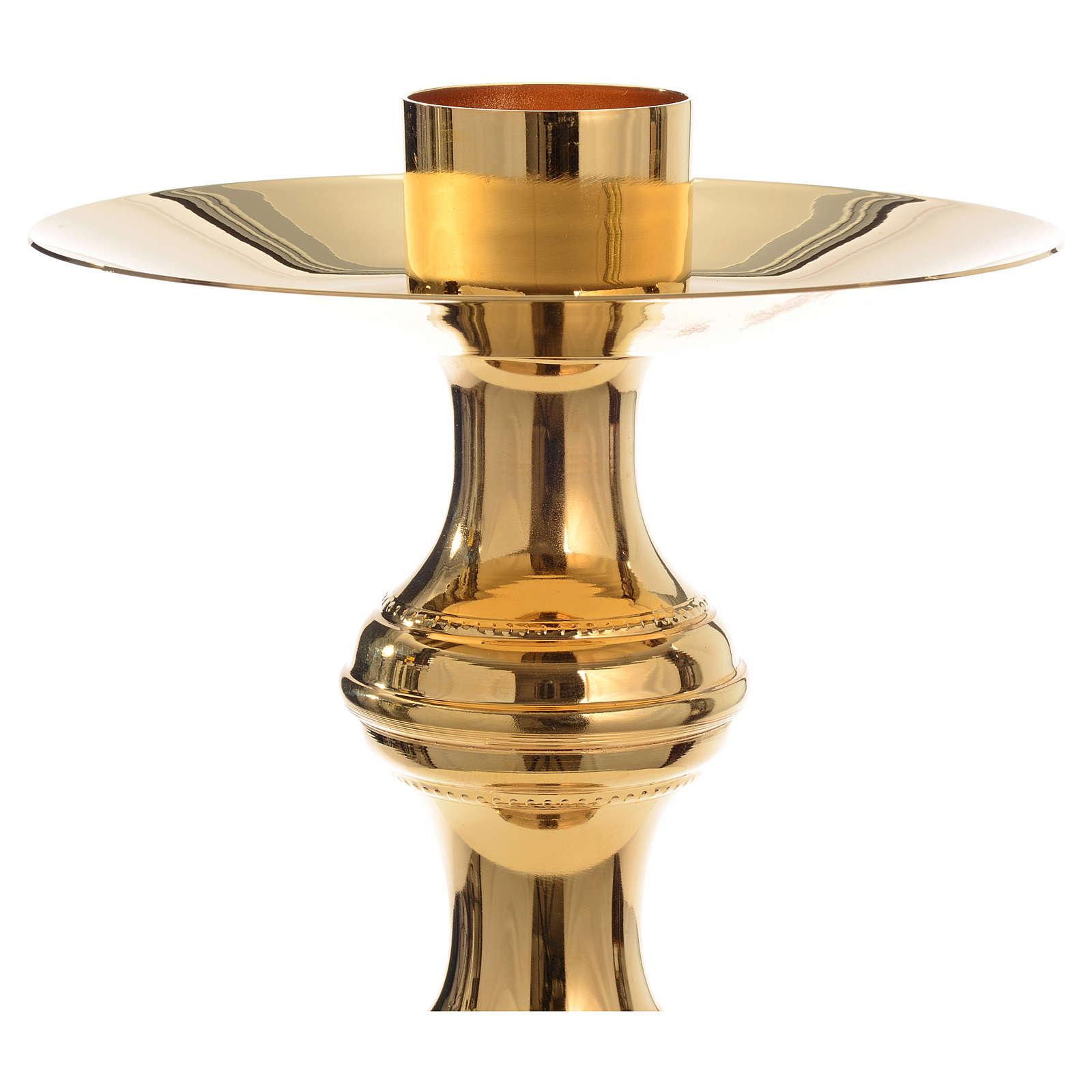 Candeliere dorato ottone 4