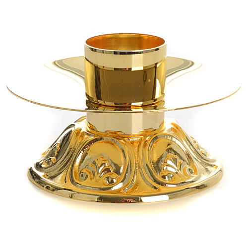 Candlestick in gold-plated brass 2