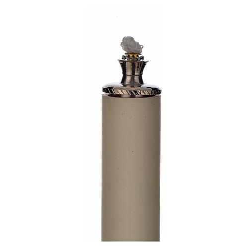 Candeliere metallo con finta candela 3