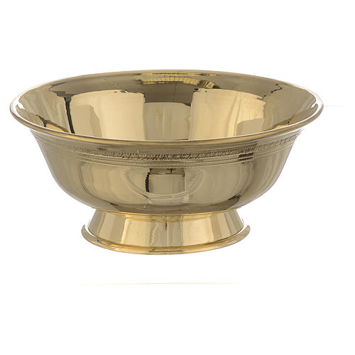 Altar candle holder in brass Bethlehem Monks 1
