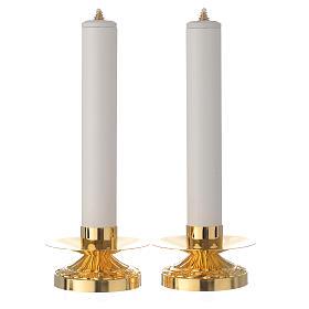 Coppia di candelieri ottone candela pvc e cartuccia s1