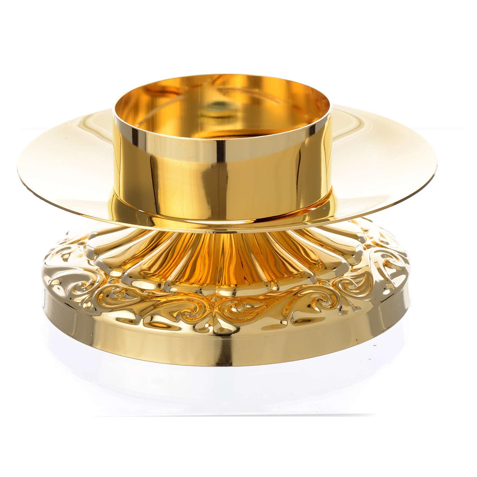 Candelero estilo imperio latón dorado 4