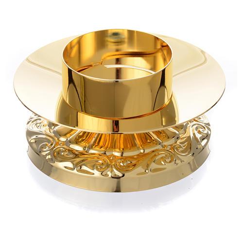 Candeliere impero in ottone dorato 2