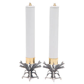 Para świeczników posrebrzany stop cyny z ołowiem ze świecą s6