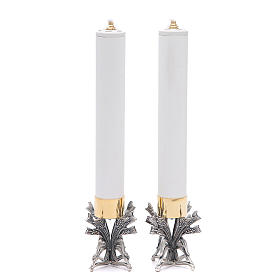 Para świeczników posrebrzany stop cyny z ołowiem ze świecą s2