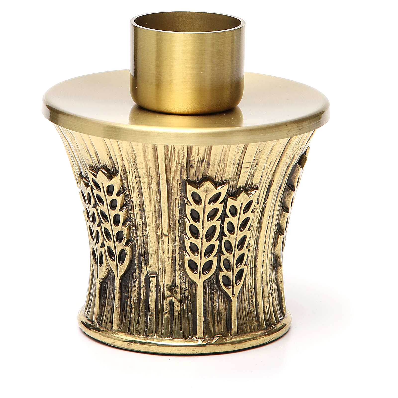 Candeliere Molina ottone dorato spighe 4