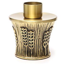 Candeliere Molina ottone dorato spighe s1