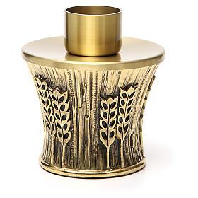Candeliere Molina ottone dorato spighe s3