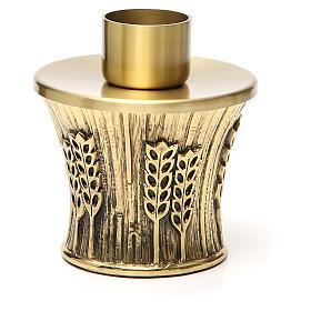 Candeliere Molina ottone dorato spighe s8