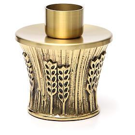 Candeliere Molina ottone dorato spighe s10