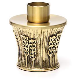 Candeliere Molina ottone dorato spighe s11