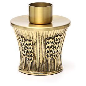 Candeliere Molina ottone dorato spighe s12